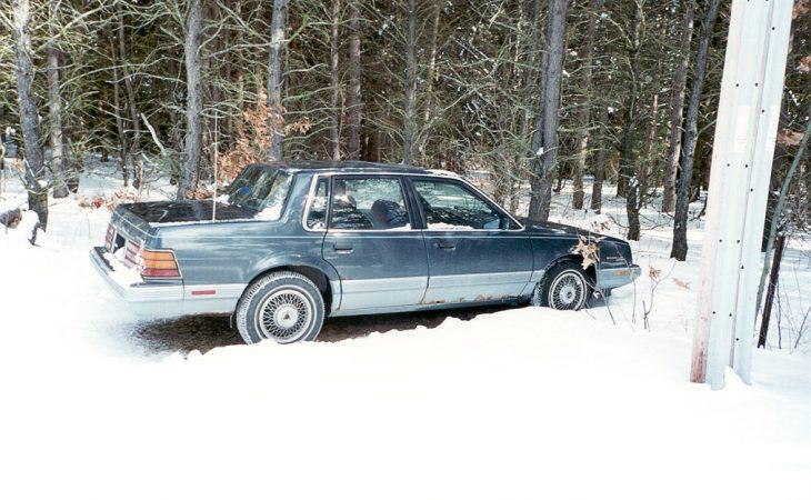 Pontiac 6000 LE in the snow