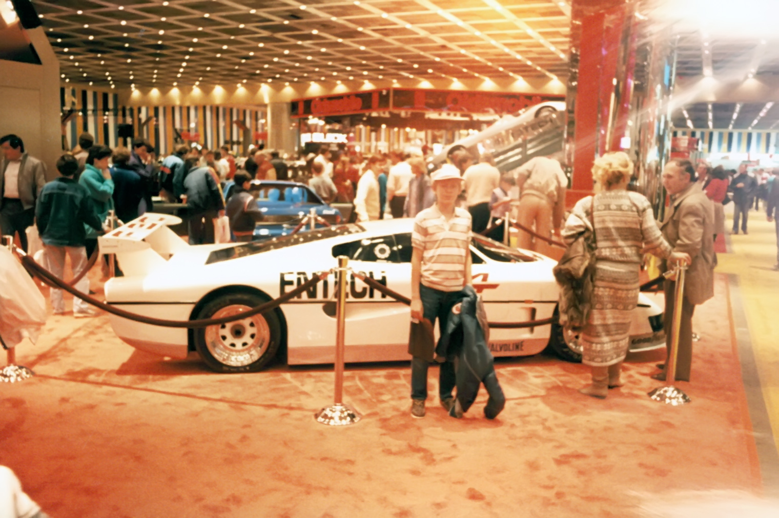 Another pic of a 12 year old me standing in front of the Entech Pontiac race car