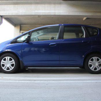 blue 2010 honda fit