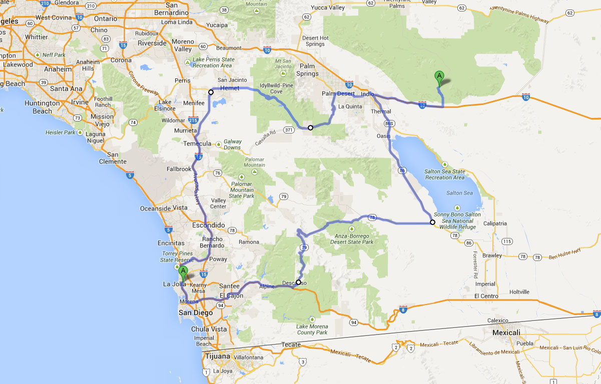 Road Trip San Diego to Joshua Tree National Park and back in a