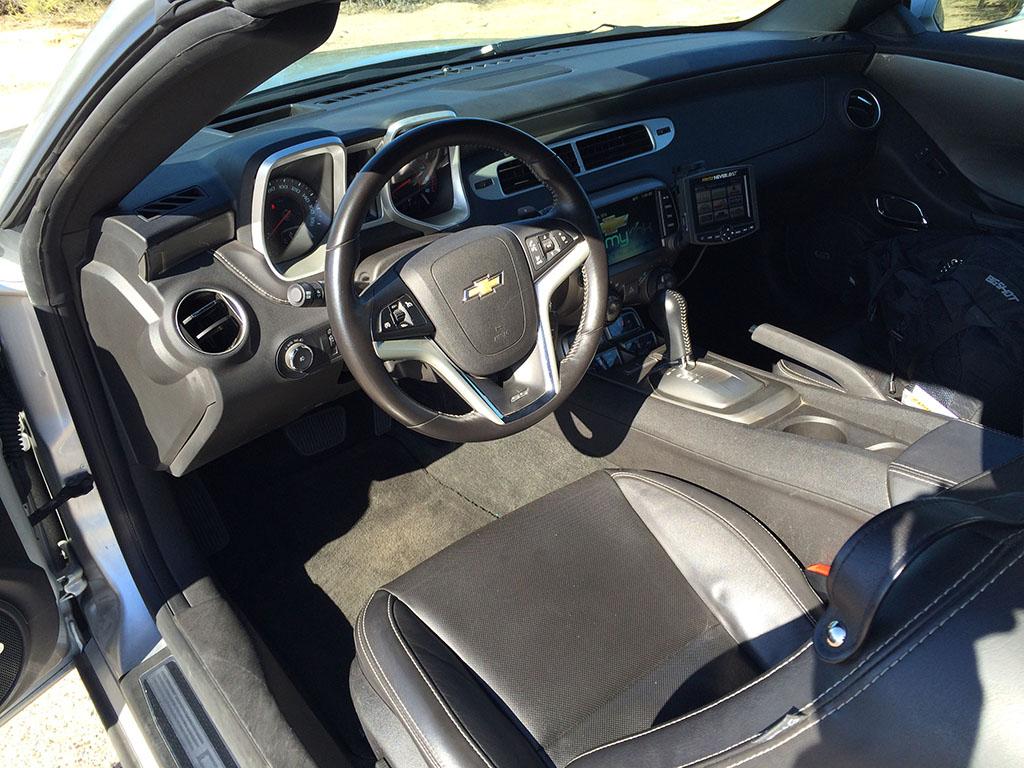 interior of the 2013 camaro ss