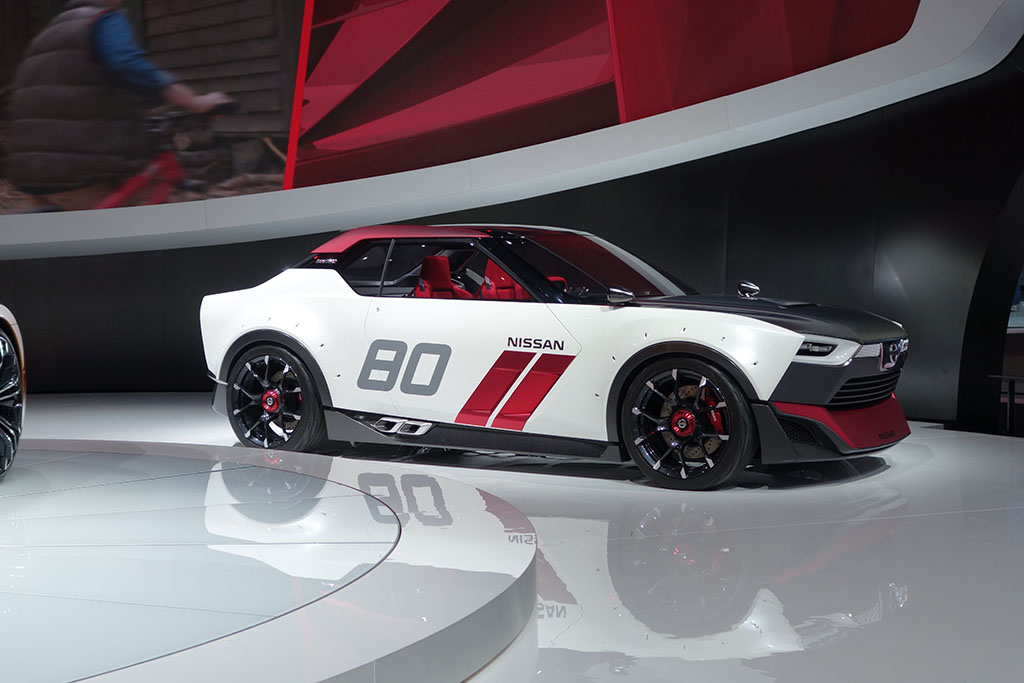 front 3/4 view of the Nissan IDx Nismo Concept