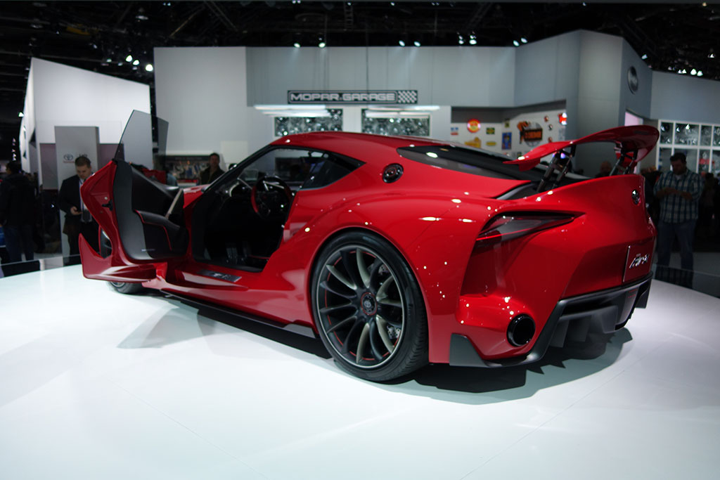 rear 3/4 view of the toyota ft-1 concept