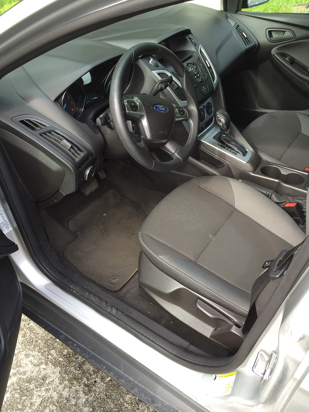 Drivers seat and dashboard of the 2013 ford focus