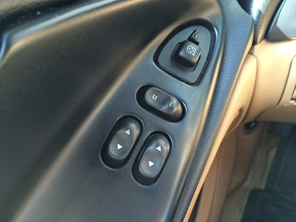 power windows and door lock controls
