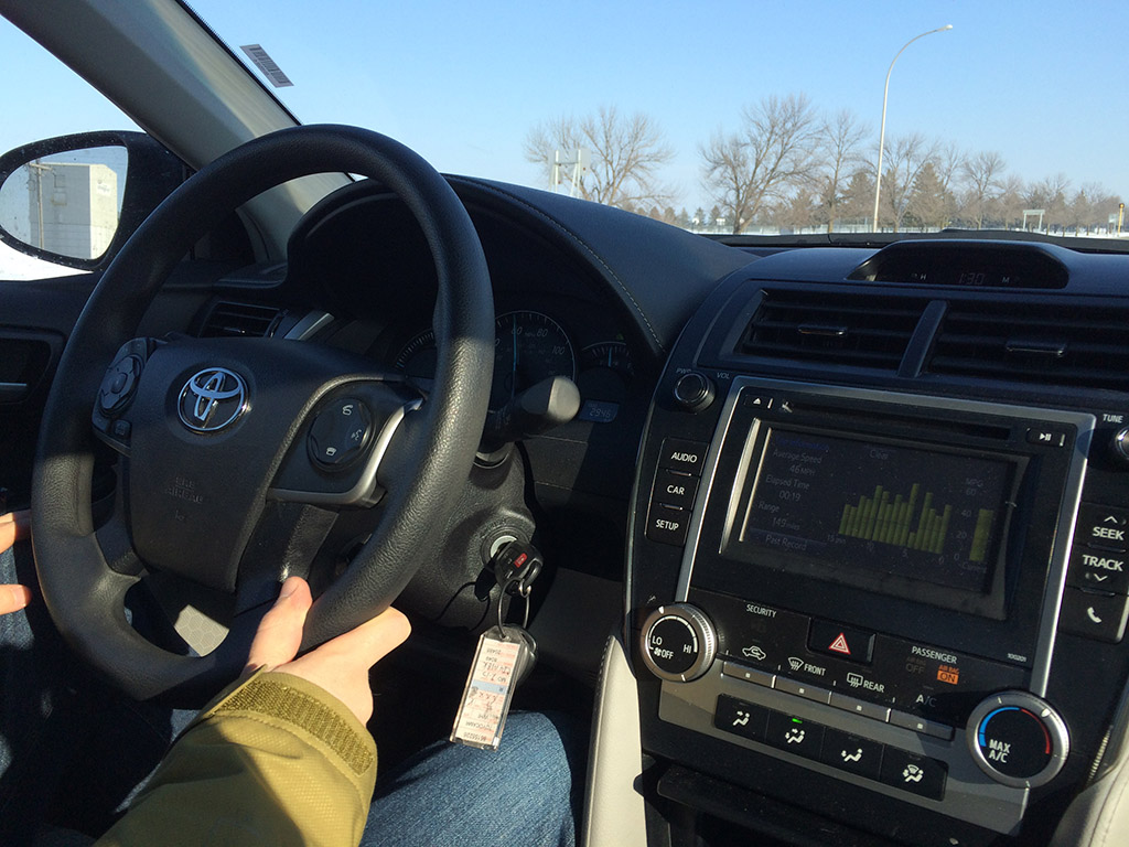 driving the camry