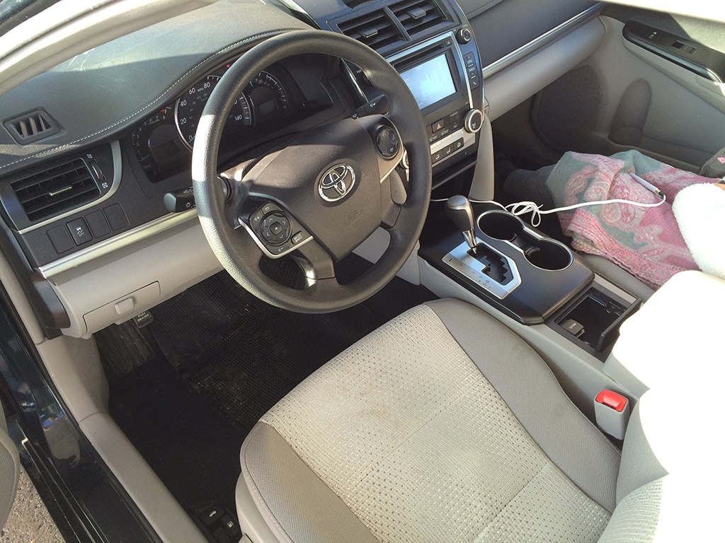 Camry dashboard and interior