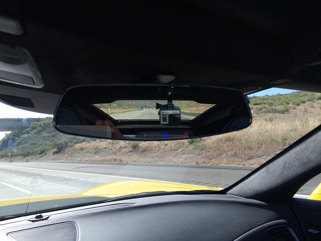 GoPro camera in the C7 corvette