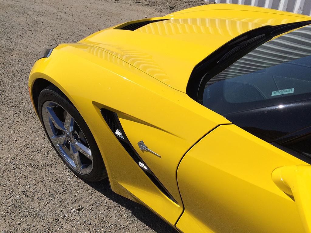 velocity yellow corvette stingray