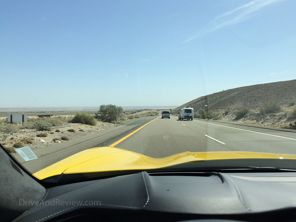 coming out of the san diego mountains along I-8 east