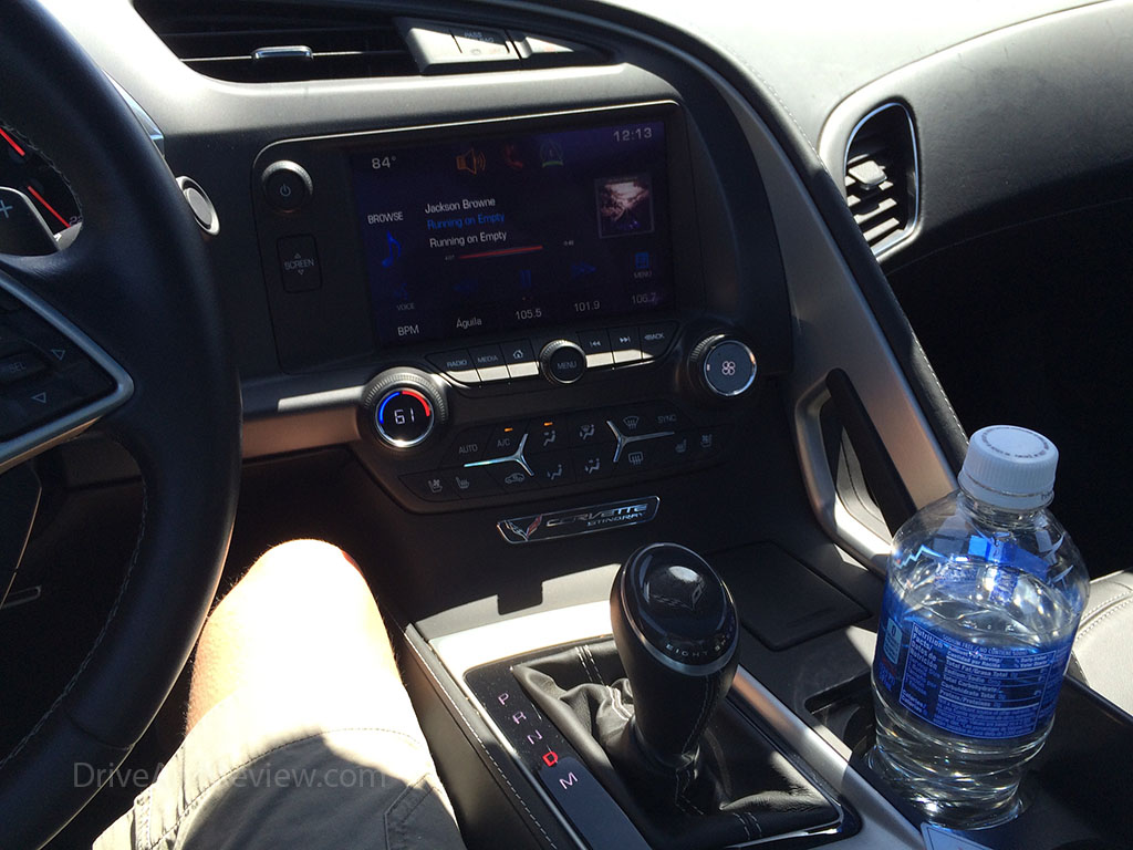 listening to the stereo in the C7 corvette