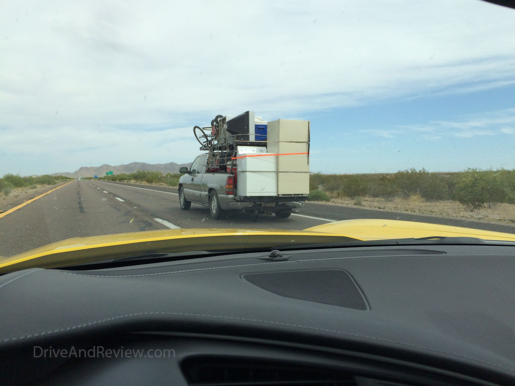 overstacked pickup truck in Arizona