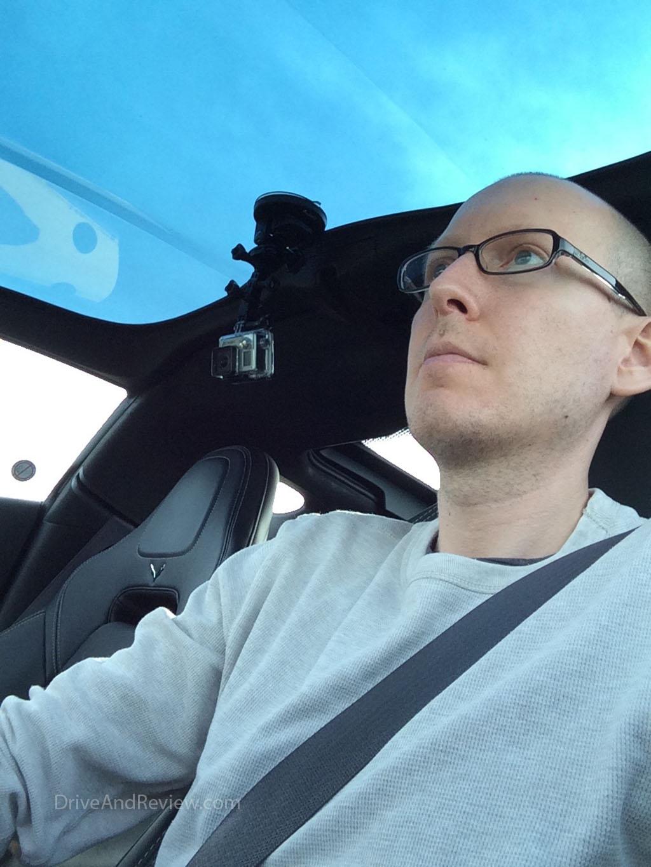 me driving a C7 corvette stingray