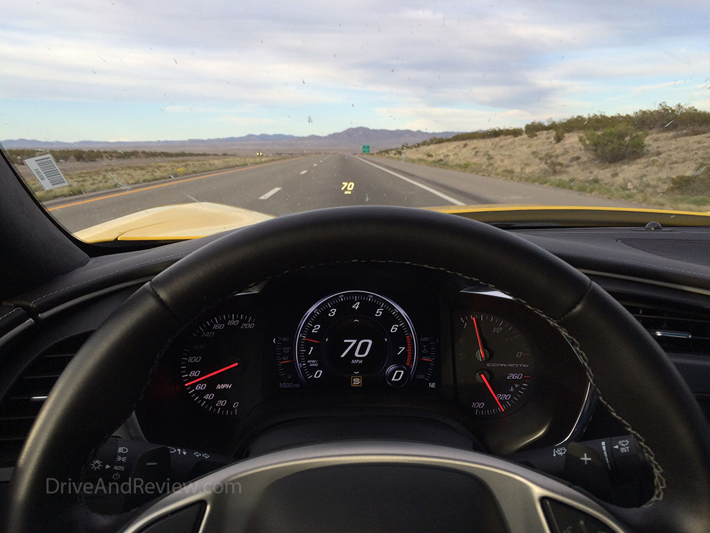 C7 corvette POV from the drivers seat