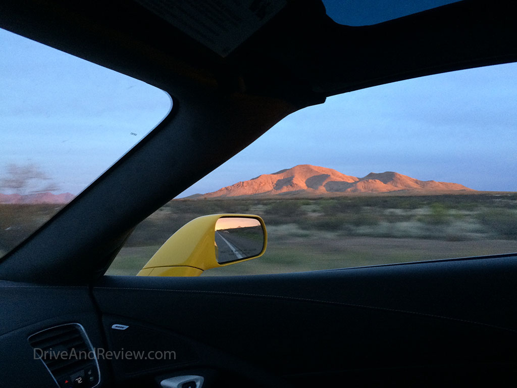 New Mexico landscape at sunset