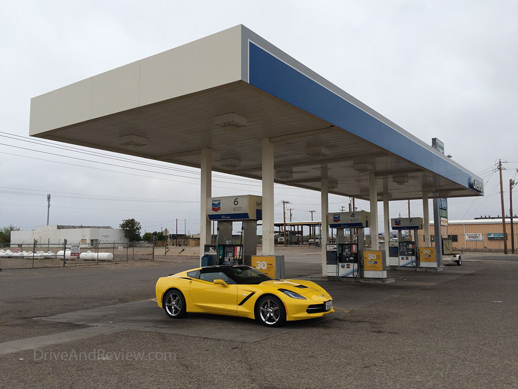 getting gas in deming new mexico in the corvette