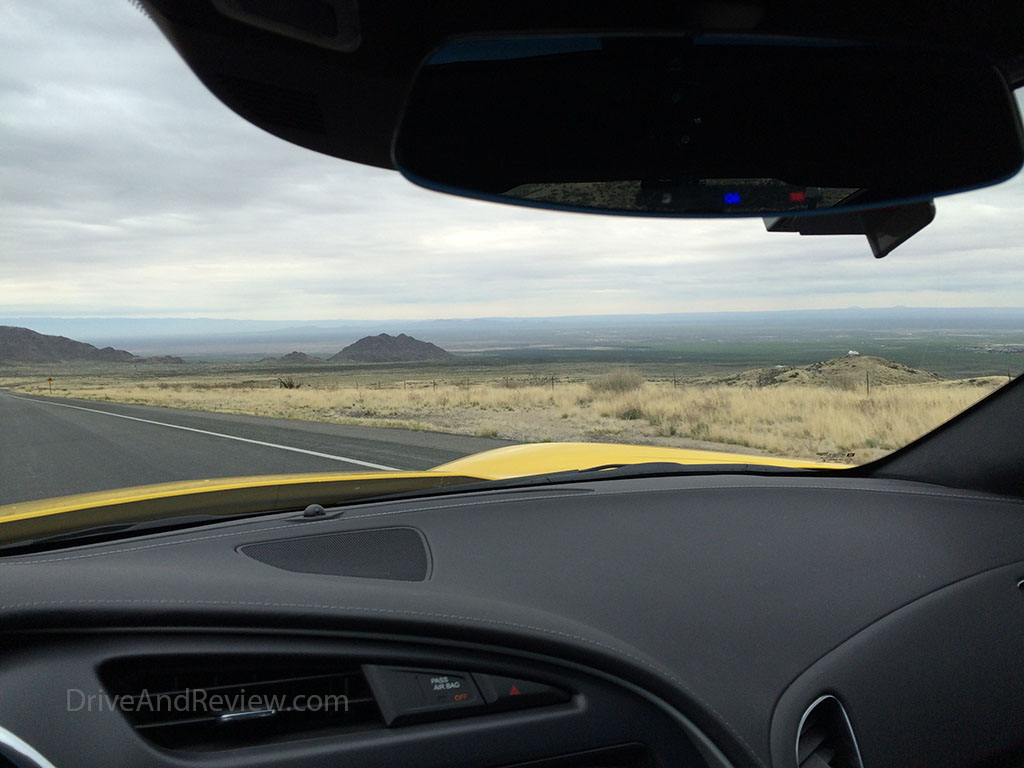 driving through the american southwest in a c7 corvette