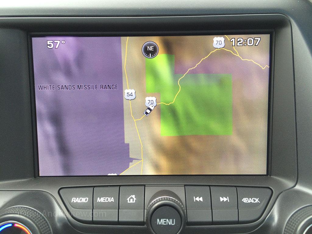 Corvette navigation system