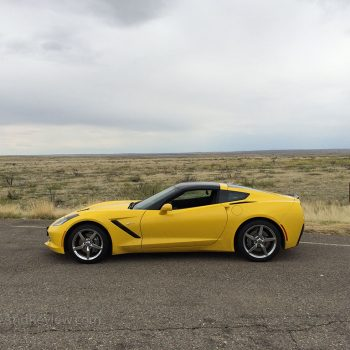 Yellow C7 corvette in new mexico