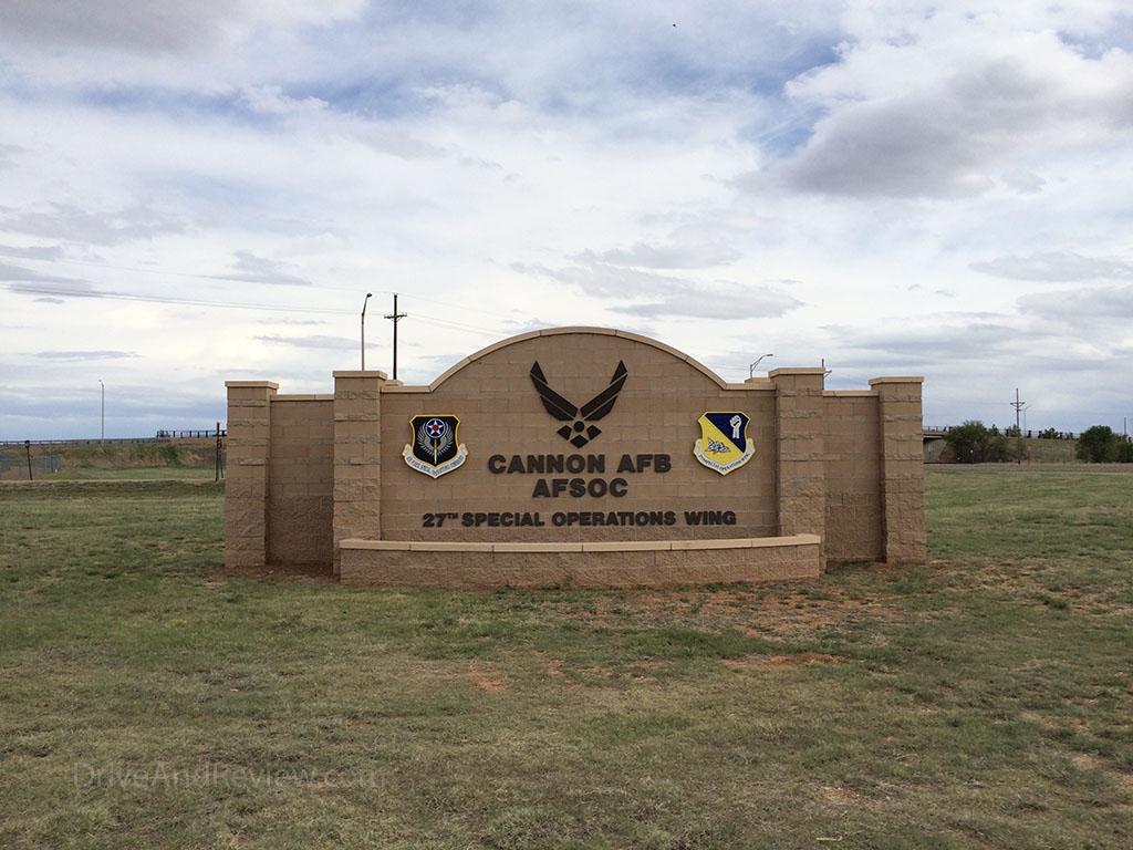 Cannon Air Force Base main gate