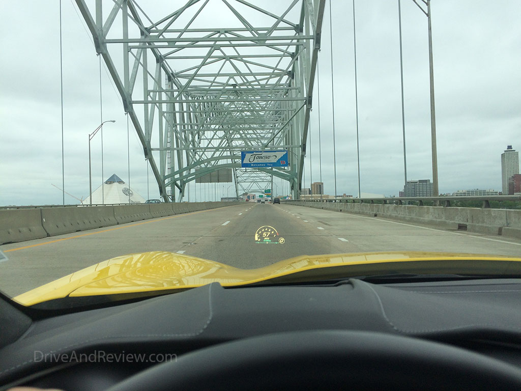 crossing the Mississippi river into Tennessee along I-40