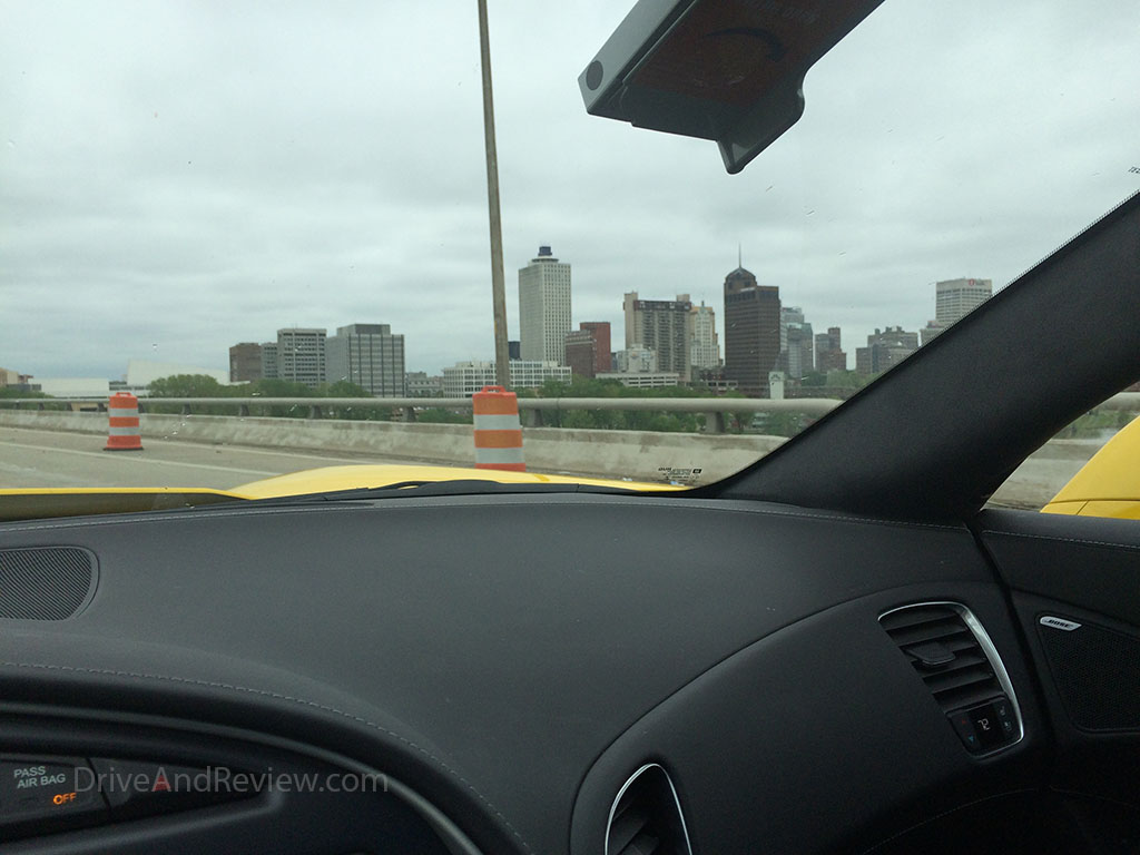 downtown memphis from I-40