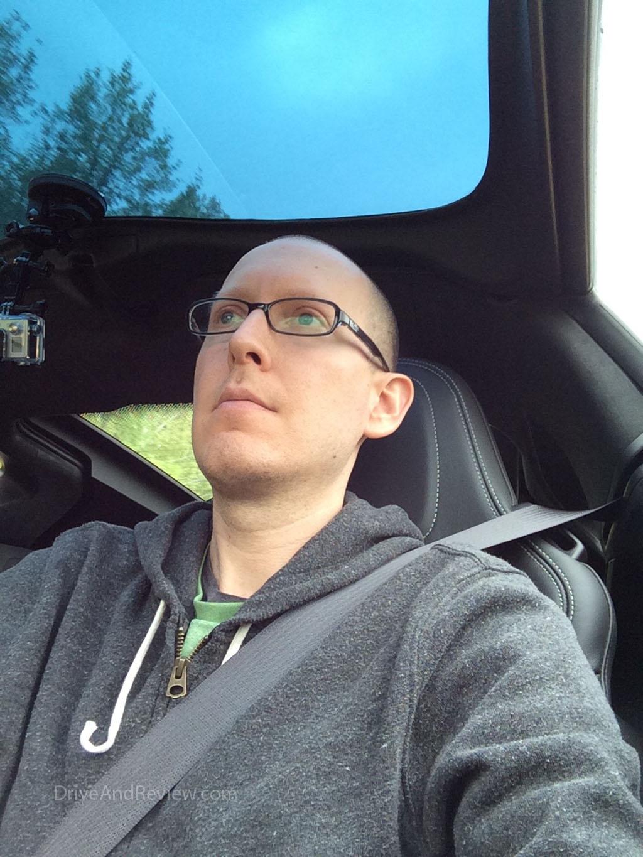 selfie of me driving the c7 corvette