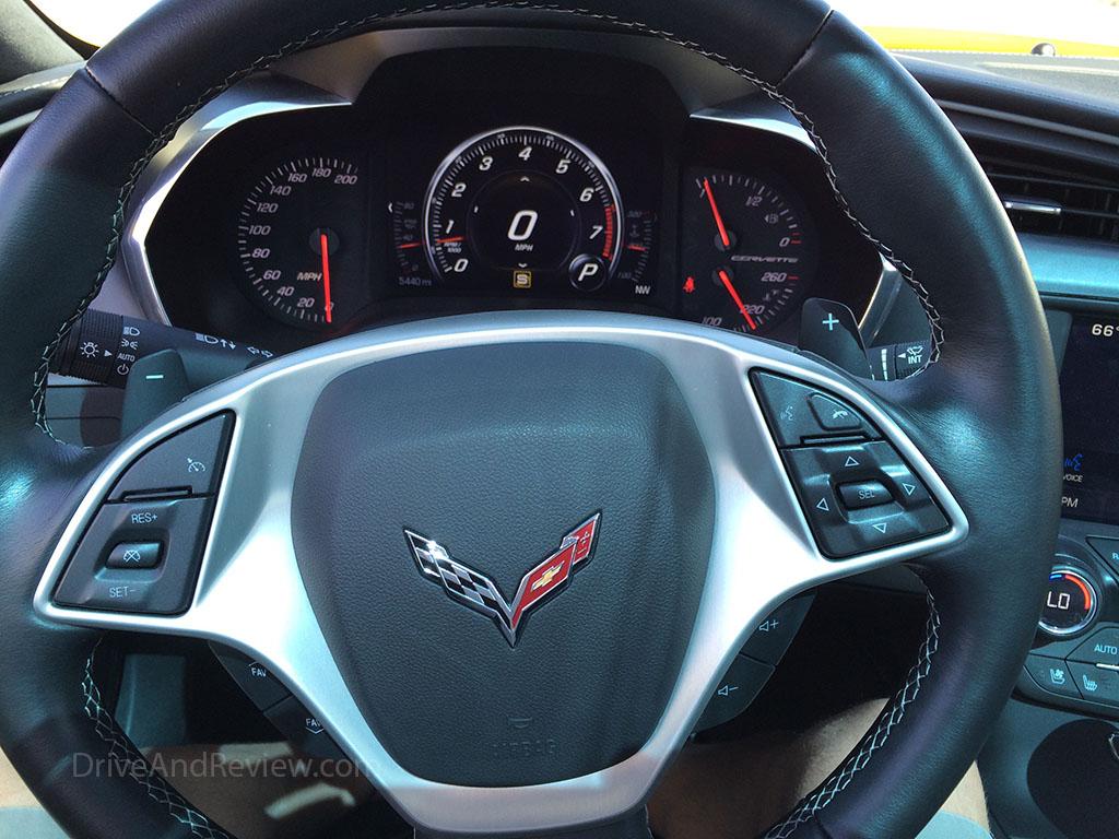 2015 corvette steering wheel and gauges