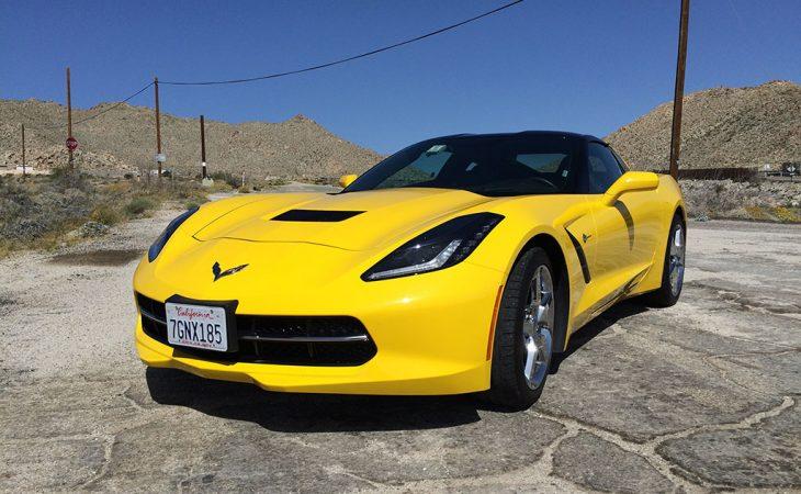 2015 yellow c7 corvette