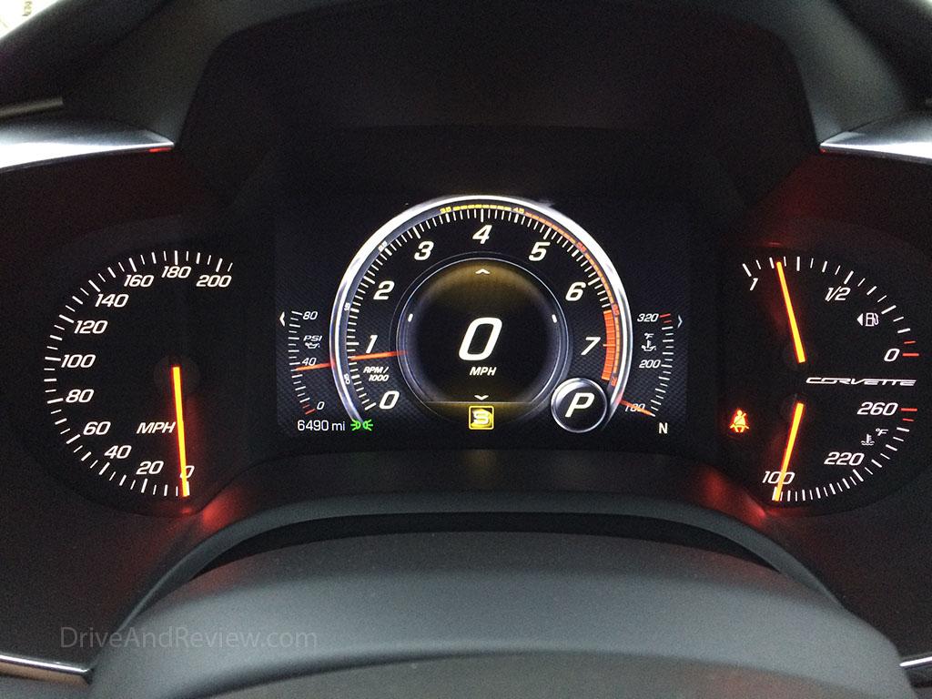 c7 corvette sport mode gauges