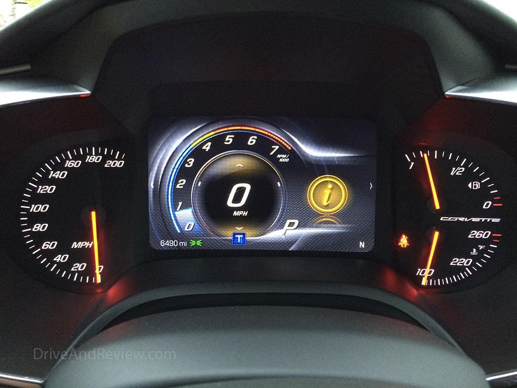 c7 corvette touring mode gauges