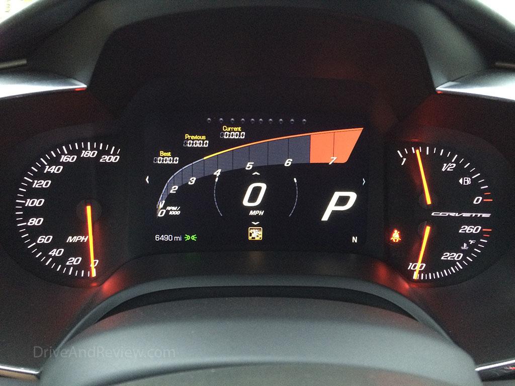 c7 corvette track mode gauges