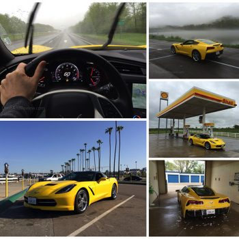 corvette road trip collage
