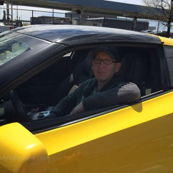 me happy to be in a corvette stingray