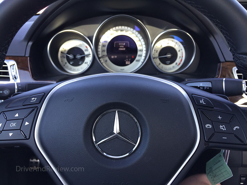 mercedes benz white face gauges e350