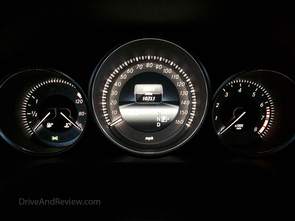 e350 reverse gauges night
