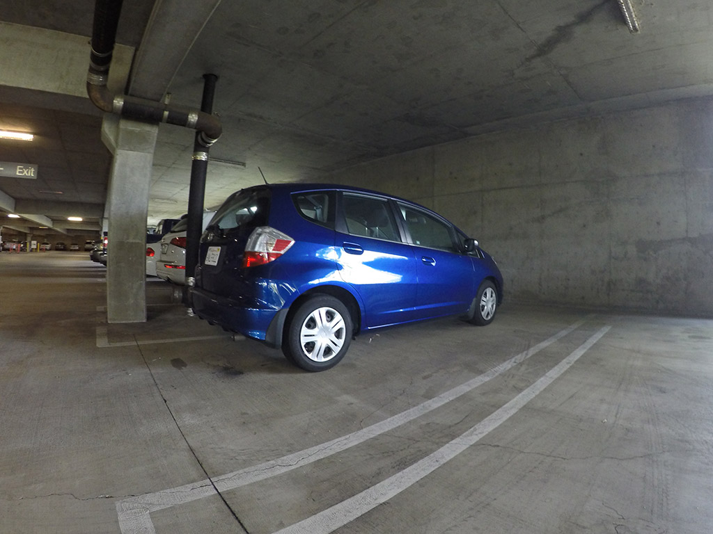 honda fit parking garage