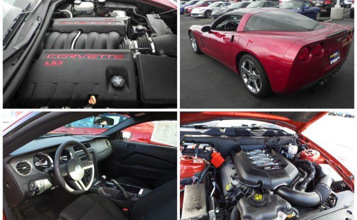 choosing between a corvette or mustang