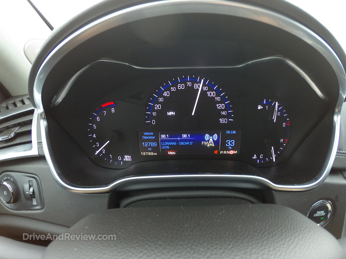 2016 cadillac SRX gauges