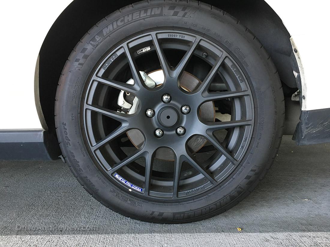 18 inch Sparco Pro Corsa wheels matte black