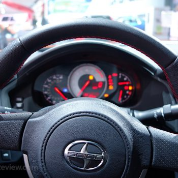 Scion FR-S steering wheel and gauges