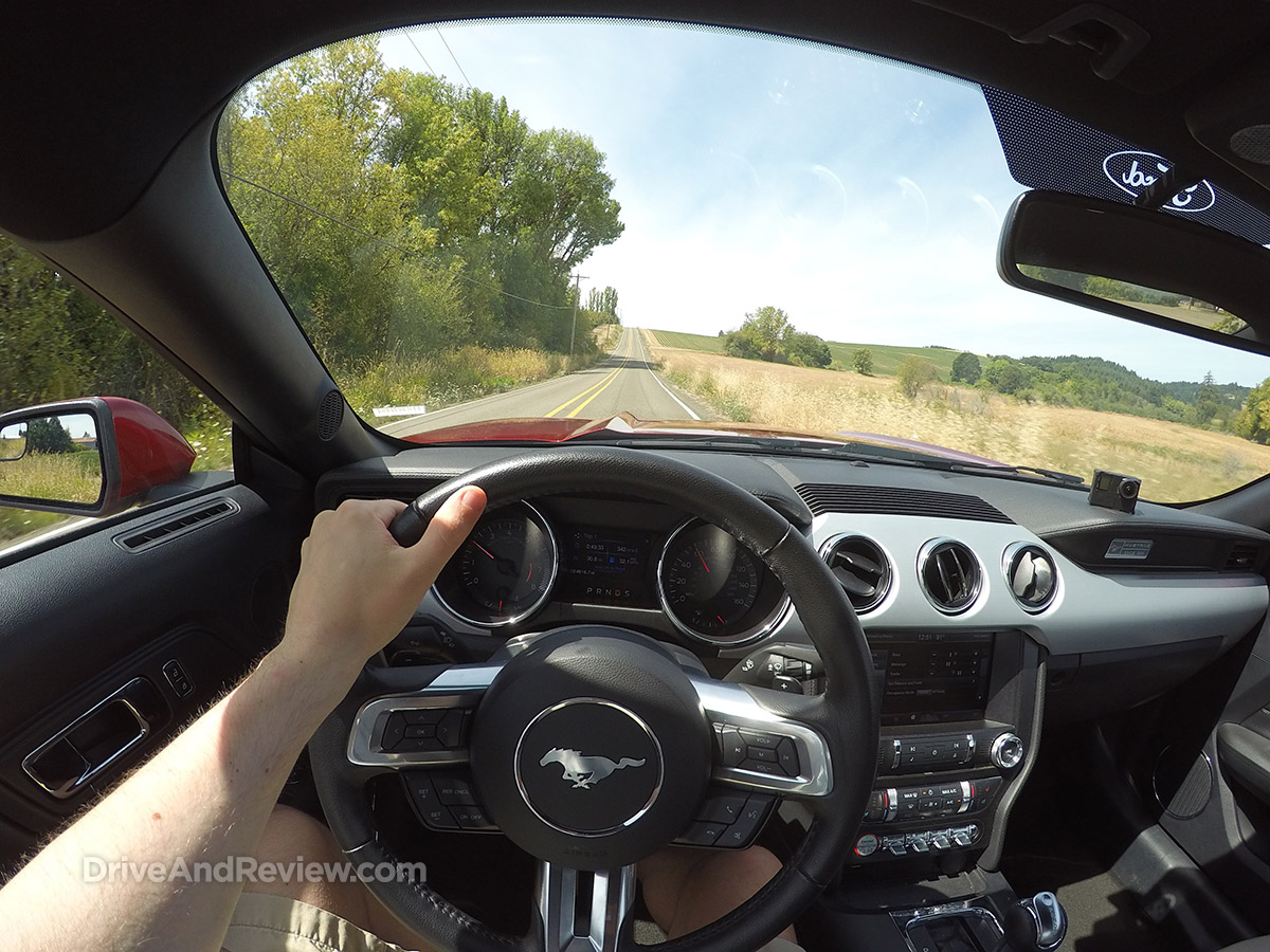 driving 2015 ford ecoboost mustang