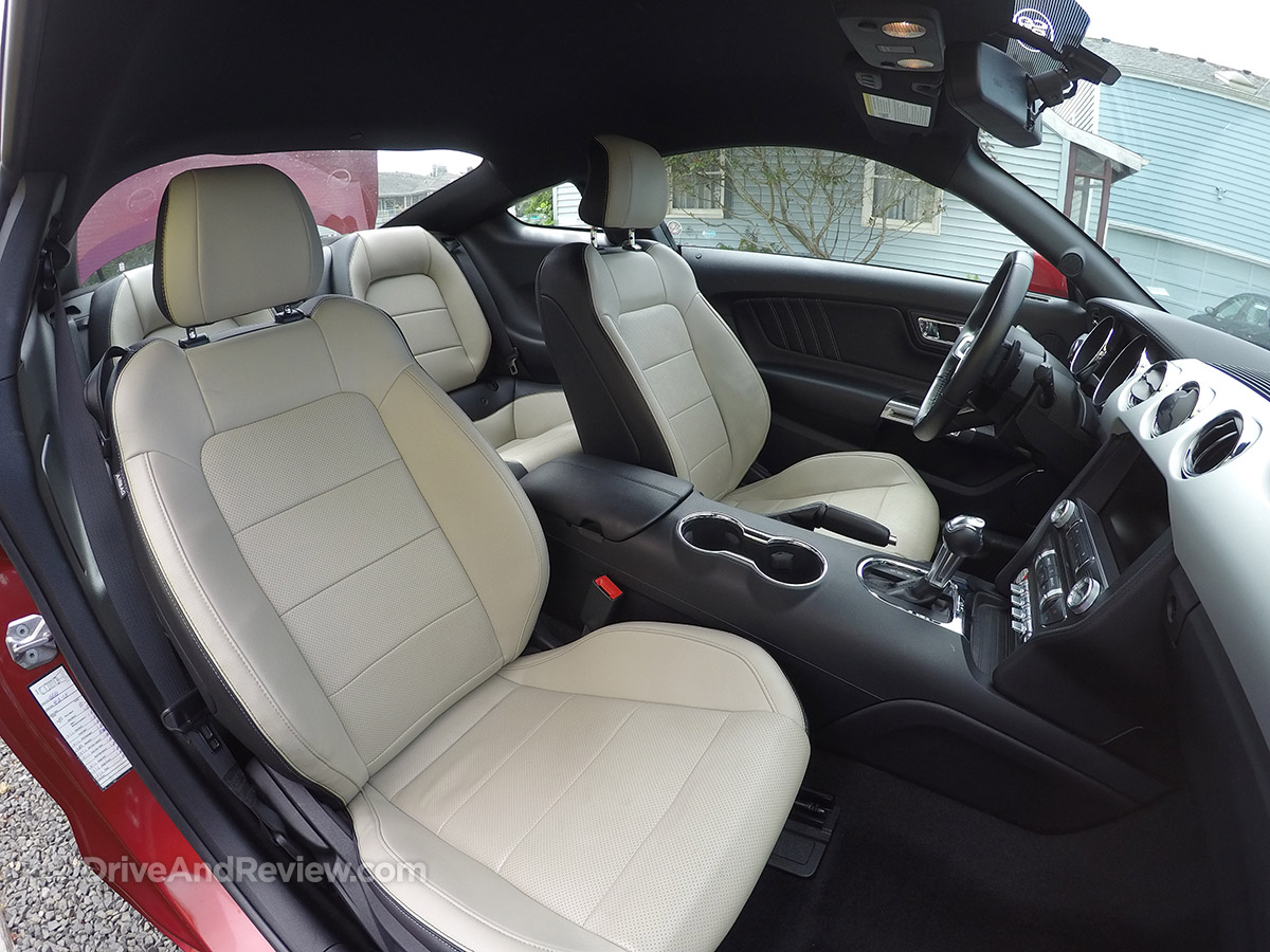 2015 EcoBoost Mustang front seats