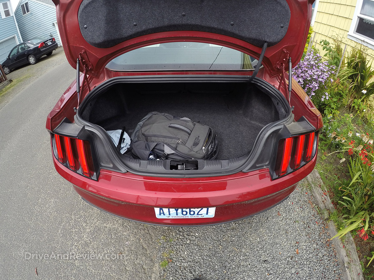 2015 ecoboost mustang trunk space