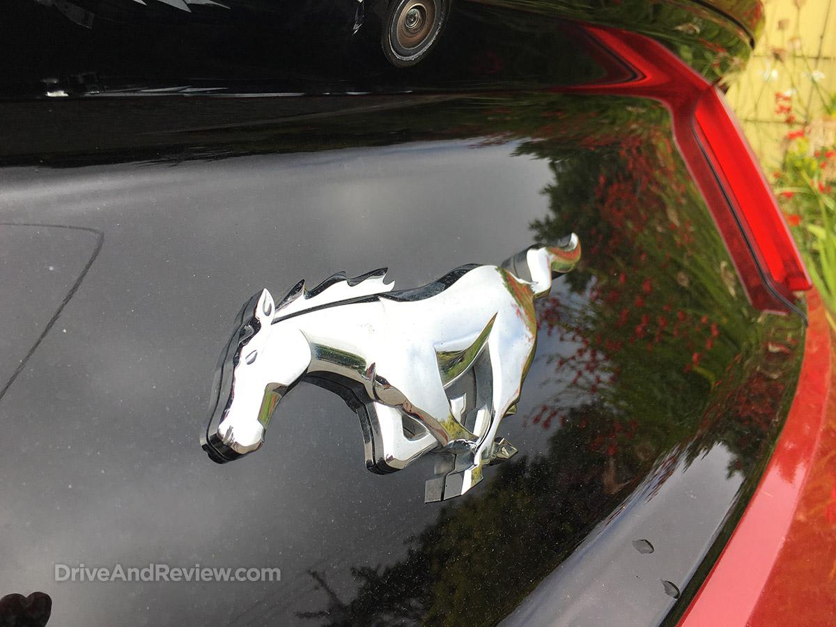 Chrome Mustang emblem