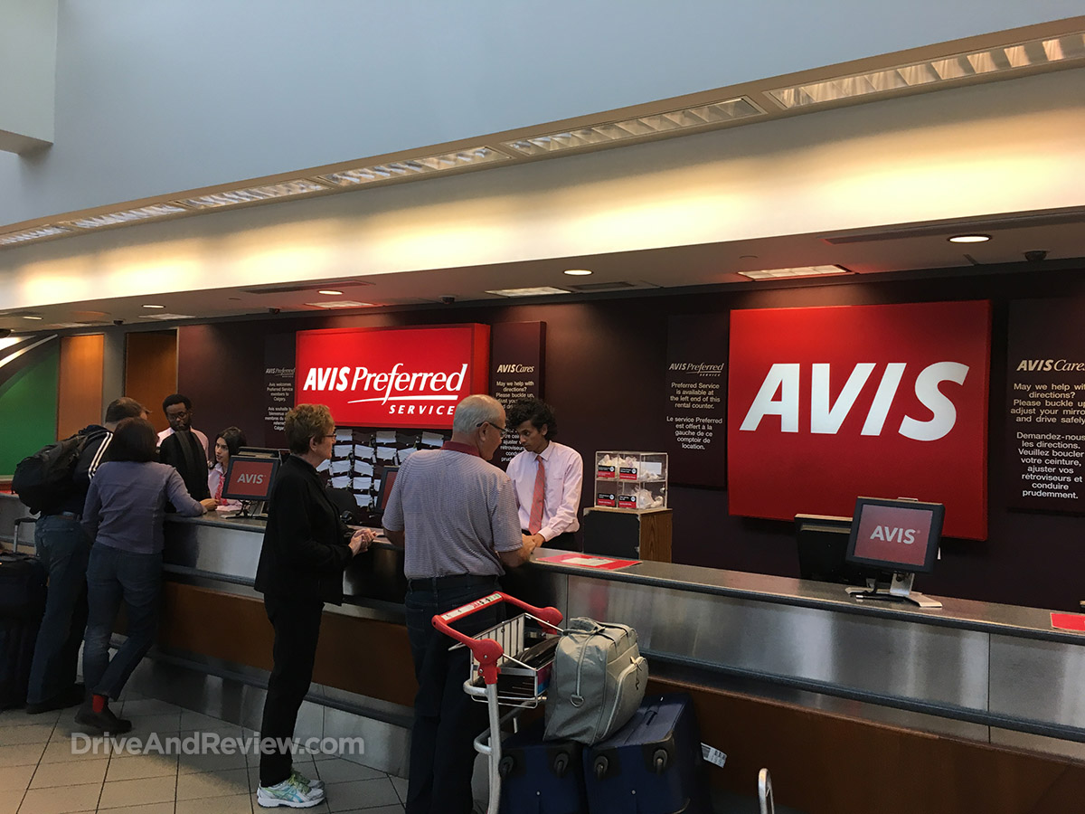 avis rental car YYC airport