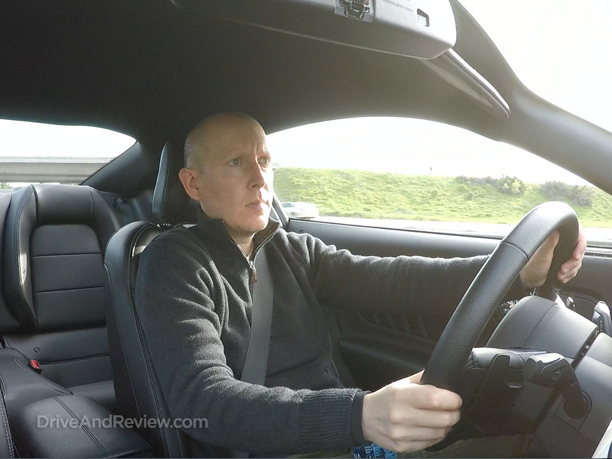 Driving a Shelby Mustang hertz