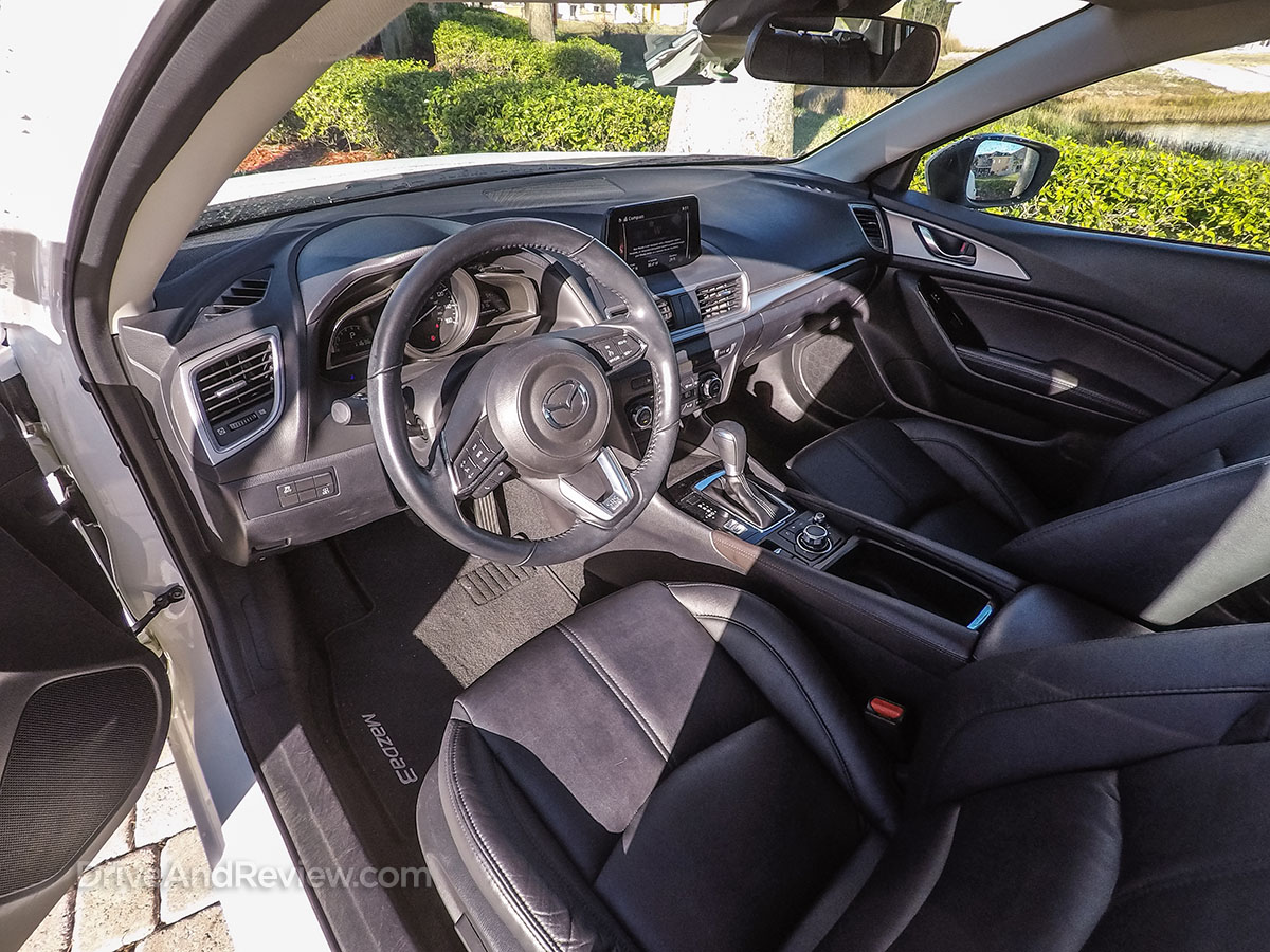 2017 white Mazda 3 hatchback Interior
