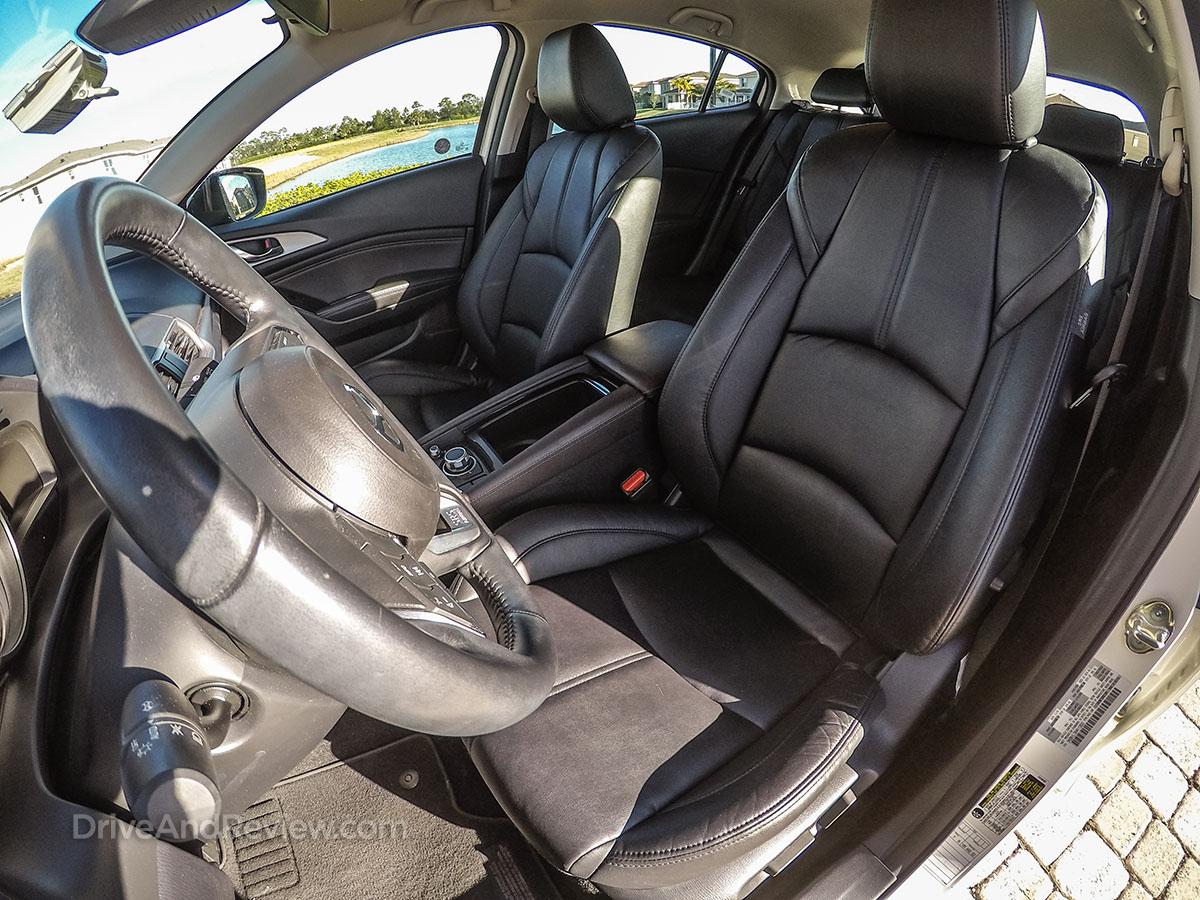 2017 white Mazda 3 hatchback Seats