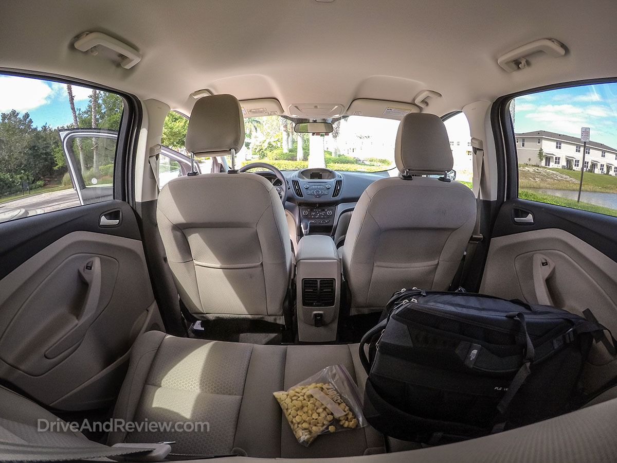 View from the back seat 2018 ford escape
